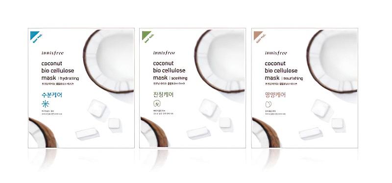 giới thiệu mặt nạ innisfree coconut bio cellulose